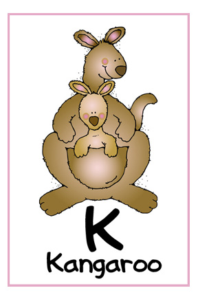letter k kangaroo and koala