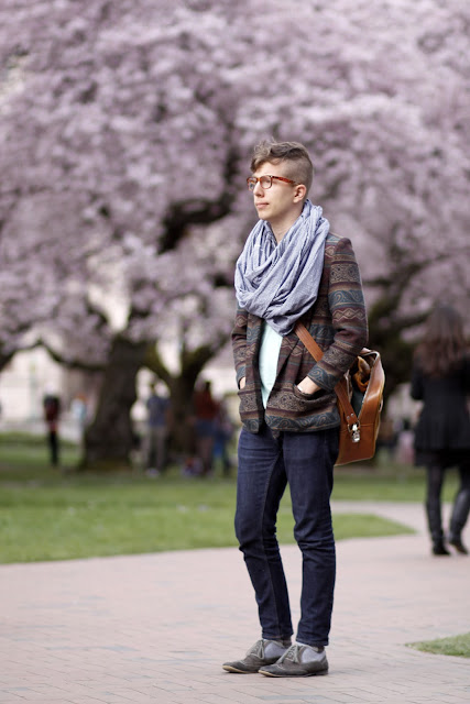 Will McKeithen cherry Blossoms university of washington seattle street style fashion it's my darlin'