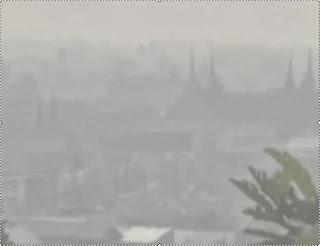 kabut asap riau sampai di padang