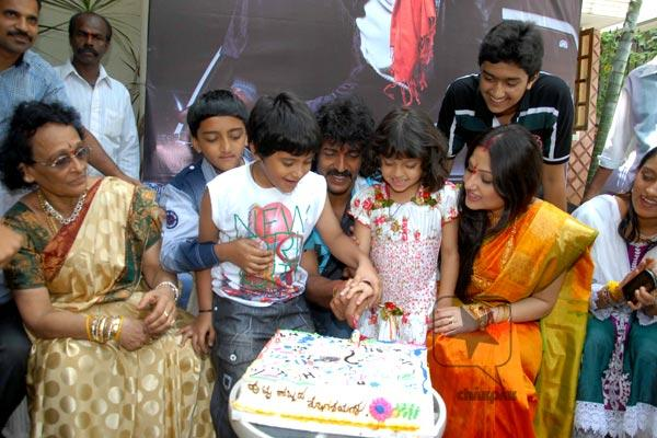 Upendra  birth day celebrates with family