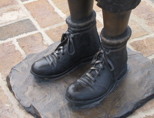 detail of boots