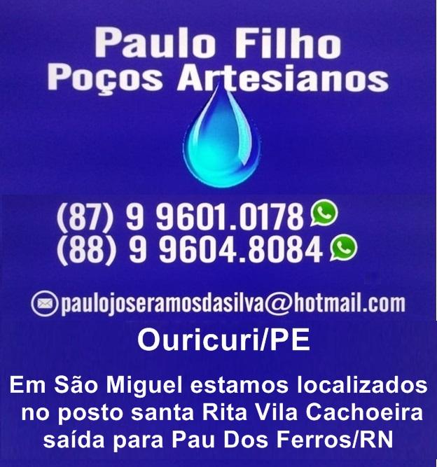 PAULO FILHO PERFURAÇÃO DE POÇOS ARTESIANO EM SÃO MIGUEL