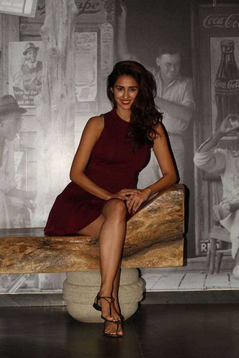 Disha Patani Super spicy Short Marron Dress Stunning Pics at Loafer Movie Interview