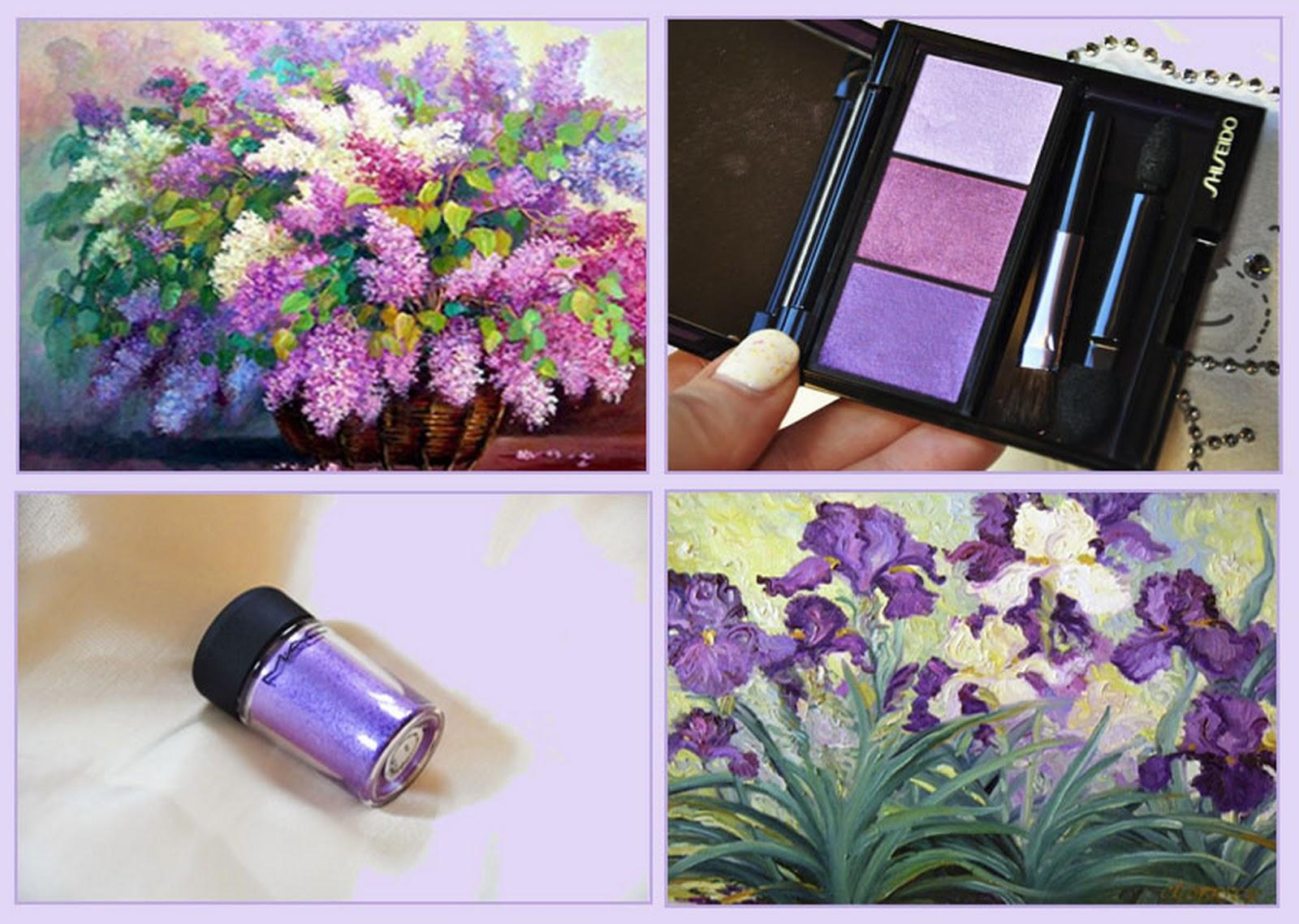 пигмент MAC Violet тени Shiseido Bouquet