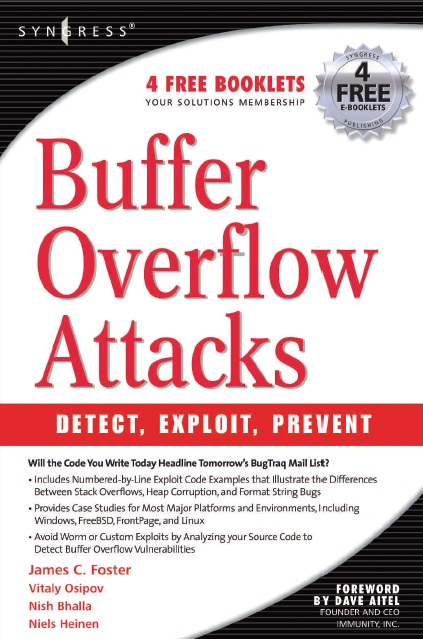 buffer+overlow নিন হ্যাকিং শিখার চমৎকার সব বই