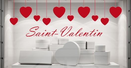 ... de GraphicArts: Stickers et bandeaux Saint-Valentin pour vos vitrines