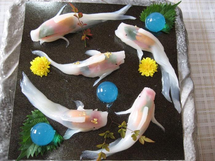 07-Rachel-and-Jun-JunsKitchen-Food-Art-Koi-Fish-Sushi-www-designstack-co