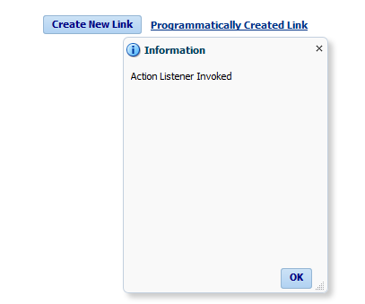Apply ActionListener to programmatically created buttons/link in ADF