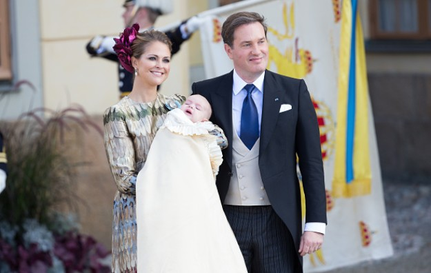 Princess Madeleine In Valentino At The Christening of Prince Nicolas of Sweden