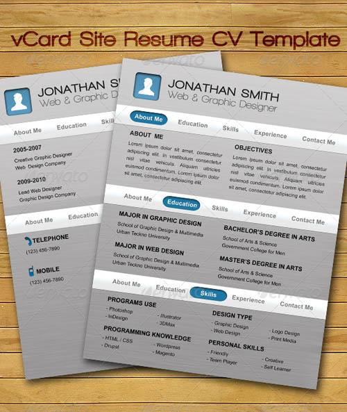 Awesome resume design