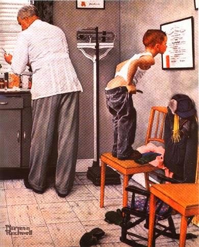 Cuadro sobre Médico preparando una inyección para un niño
