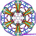 Colour_Kaleidoscope_2013 Floral shape arts designing.