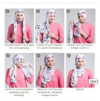 Kumpulan Gambar Tutorial Cara Memakai Hijab Modern Dan Modis Terbaru