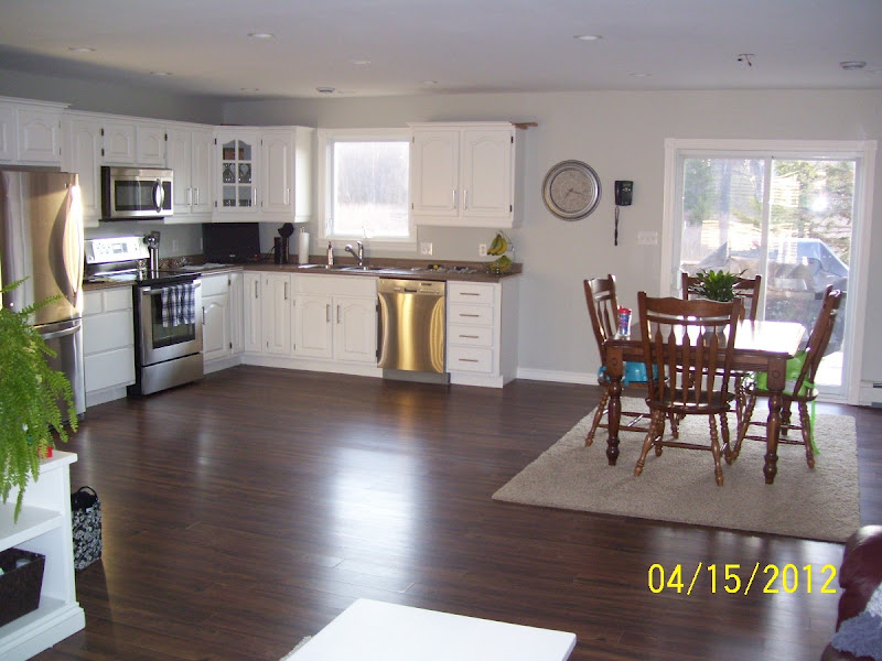 Next Up Is A Large Island Between The Kitchen And Dining Room Light Fixture Over Table Some Window Treatments Personally I Think They Should