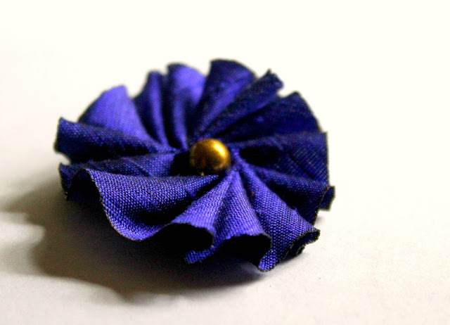 dupioni silk hair flower accessory- Wish List- Catherine Masi
