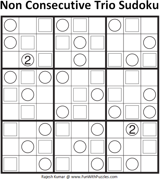 Non Consecutive Trio Sudoku (Fun With Sudoku #109)