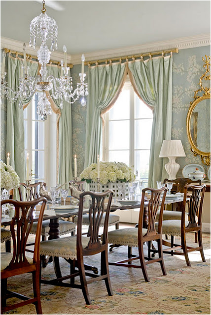 French country dining room design ideas home interior for Traditional dining room designs