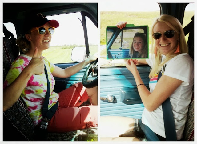 amanda claire and hannah in the freecandyvan