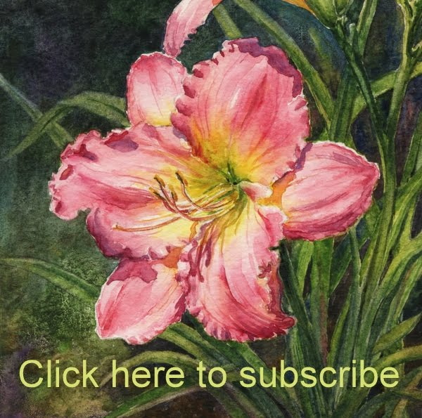 Subscribe to my monthly email newsletter & receive a free watercolor tutorial!