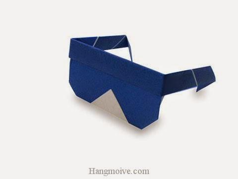 Cách gấp, xếp cái kính dâm bằng giấy origami - Video hướng dẫn xếp hình đồ thời trang - How to fold a Sunglasses