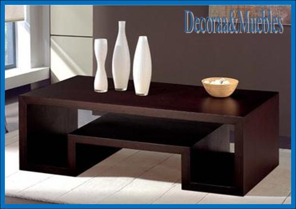 Decoraa muebles mesa de centro for Mesas de madera modernas