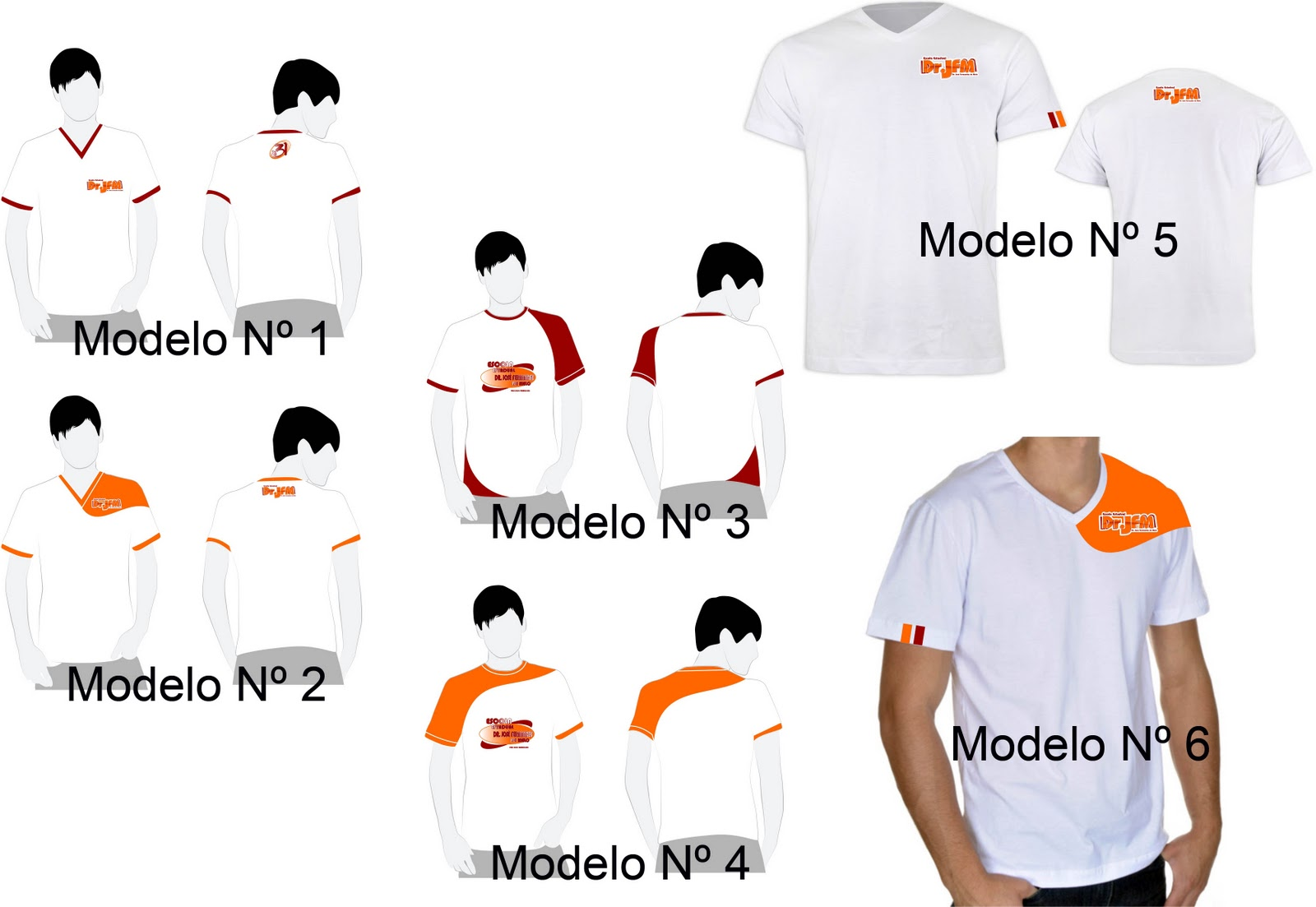 ESCOLHA DO MODELO DA CAMISETA PARA O FARDAMENTO ESCOLAR DO ANO 2012 DA