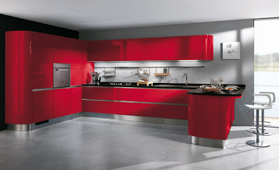 8 cocinas color rojo italianas modernas ideas para - Cocinas italianas diseno ...