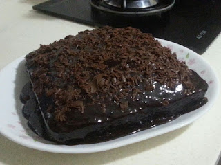 Kek Coklat Berhantu Yang Sedap Dan Mudah