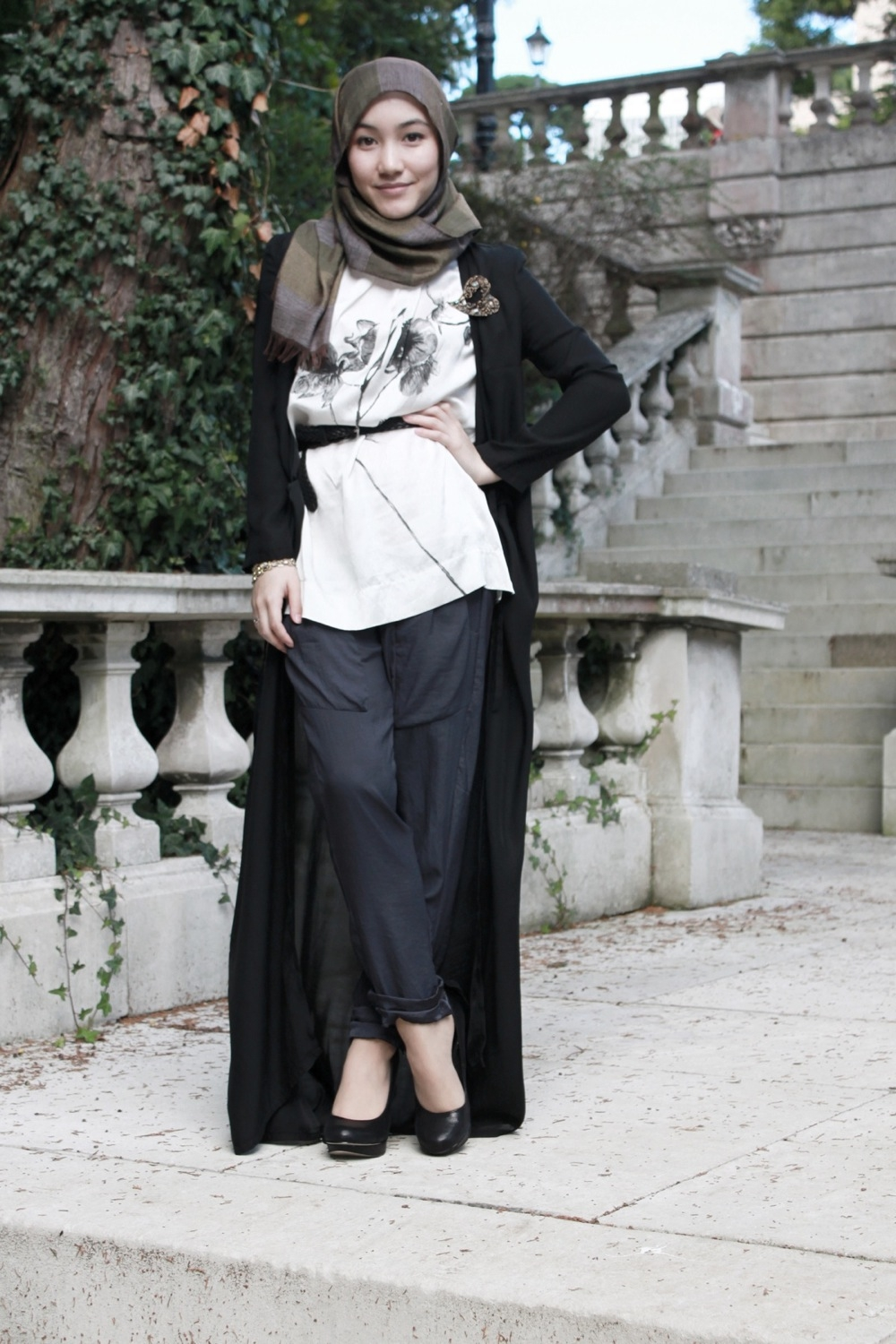 Casual Style With Hana Tajima Part I Tutorial Hijab