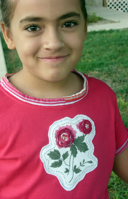 fashion gifts for a little girl: baby rose shirt redo, sewing tutorial