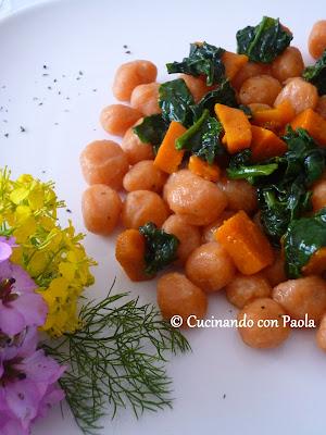 chicche di patate ai sapori dell'orto