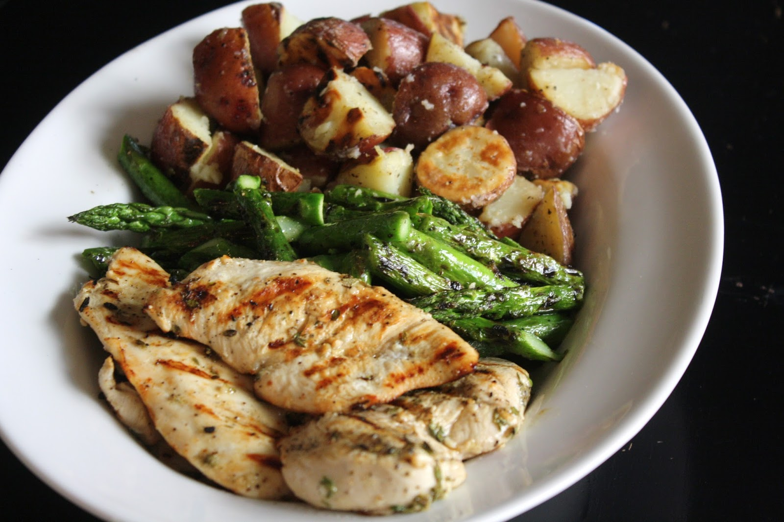 Garlic Marinated Chicken Cutlets With Grilled Potatoes 45 Minutes