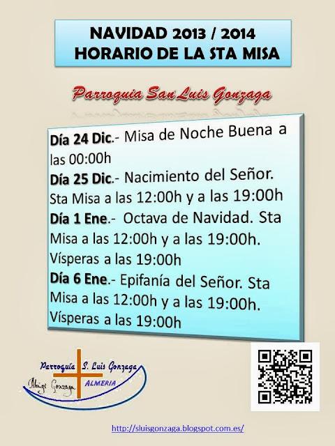 horario de misa: