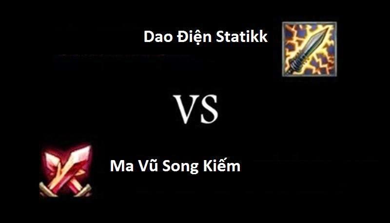 Thống kê lượng sử dụng Dao Điện Statikk vs Ma Vũ Song Kiếm