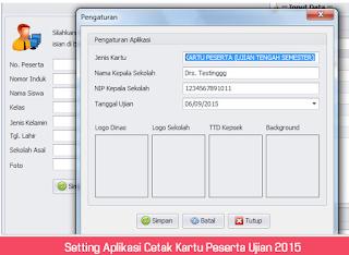 Download Aplikasi Kartu Peserta Ujian Dilengkapi Dengan Barcode