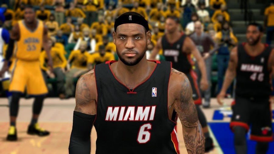 NBA 2K14 Realistic LeBron James Cyberface Patch