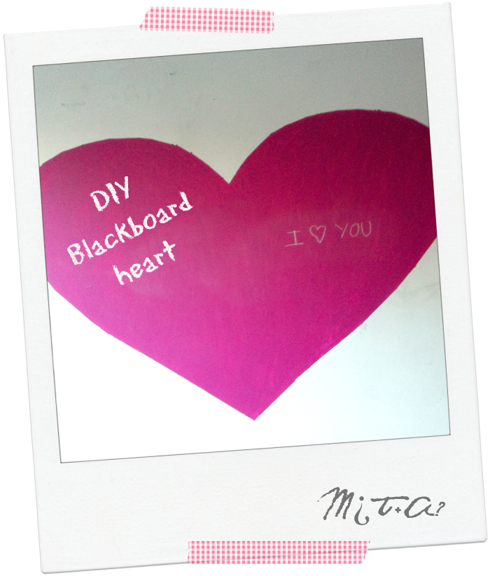DIY Blackboard heart