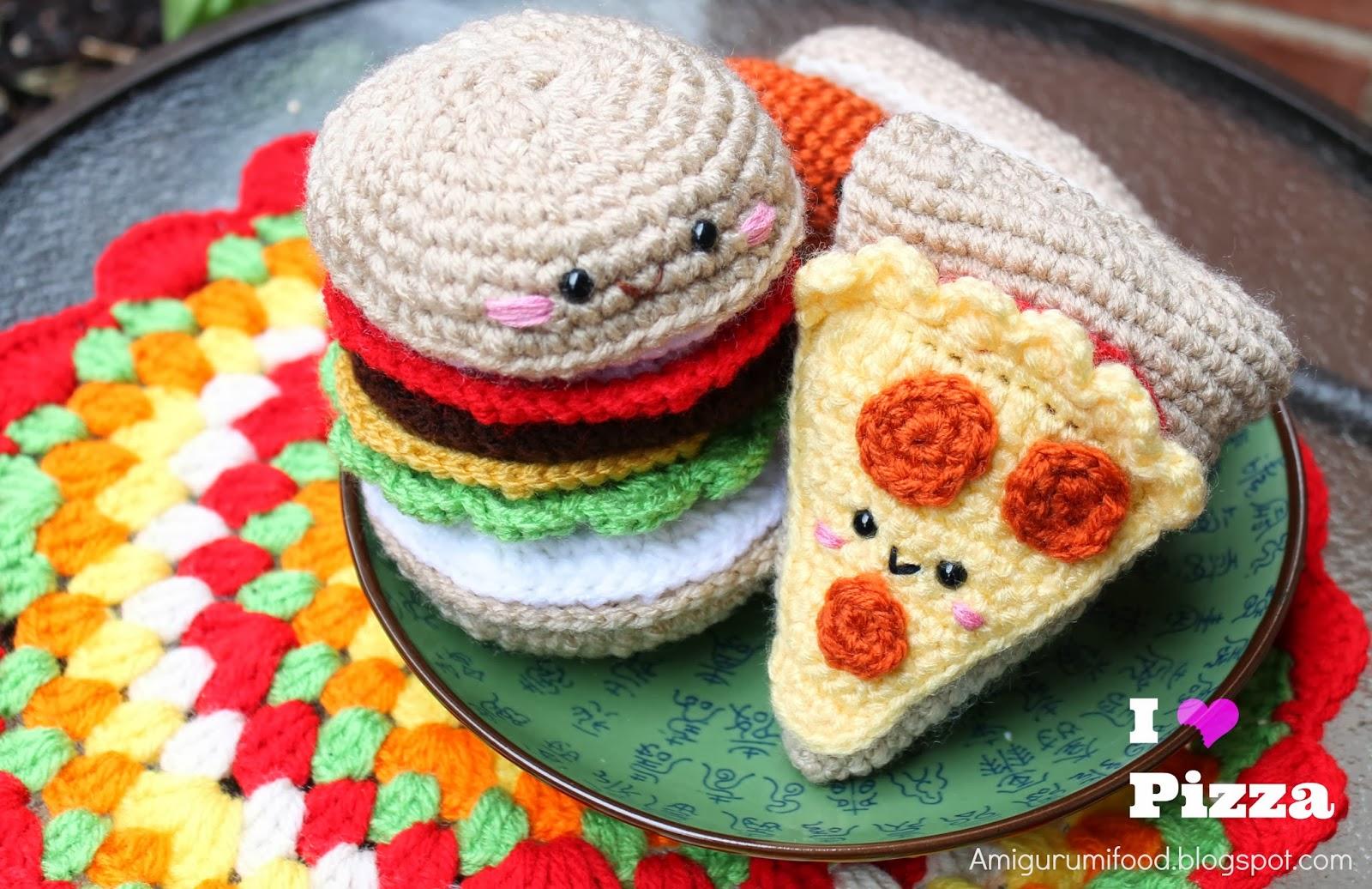 Amigurumi Food: Pizza Amigurumi