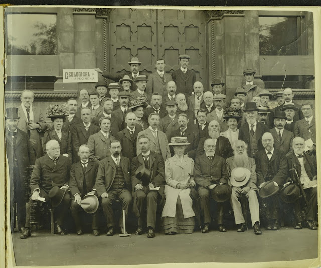 Group photograph taken at the British Association for the Advancement of Science Meeting in Dublin, 1908.