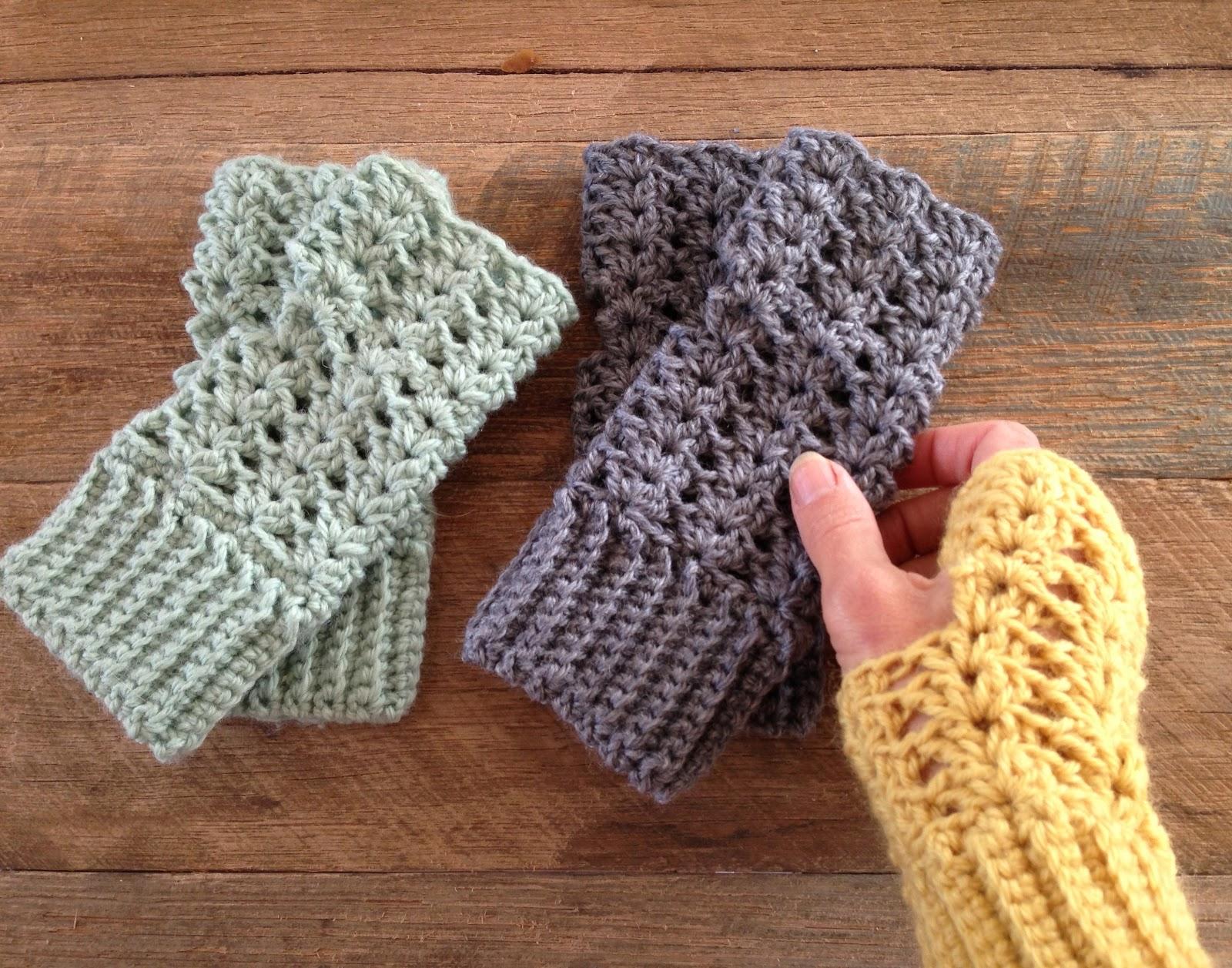 Crochet Pattern Central Fingerless Gloves : Little Golden Nook: Autumn crocheting :: Fingerless gloves