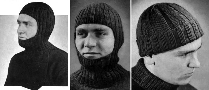 The Vintage Pattern Files 1940s Knitting Wartime Beanie Balaclava