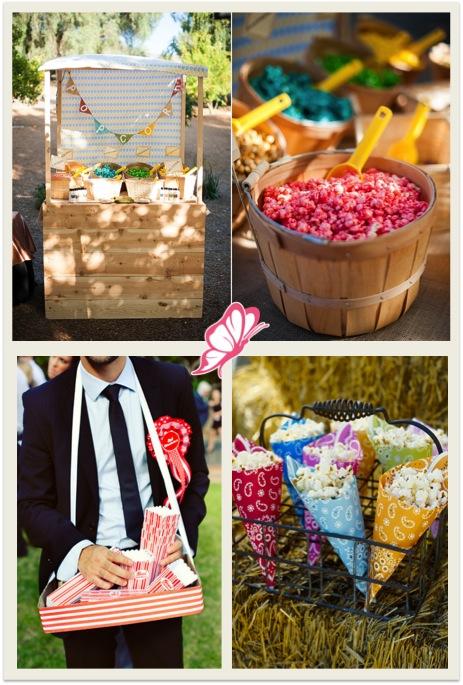 Palomitas en tu boda