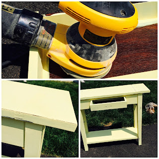 Furniture Makeover YELLOW Before & After