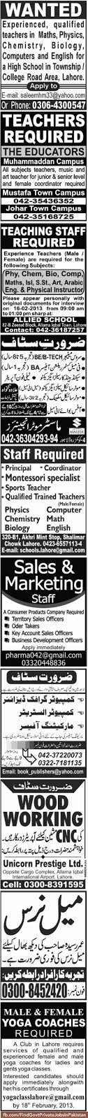 job opportunities in sunday jang
