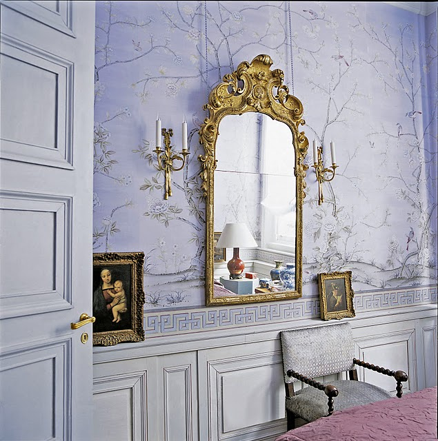New england fine living my secret love with the color for Periwinkle bathroom ideas