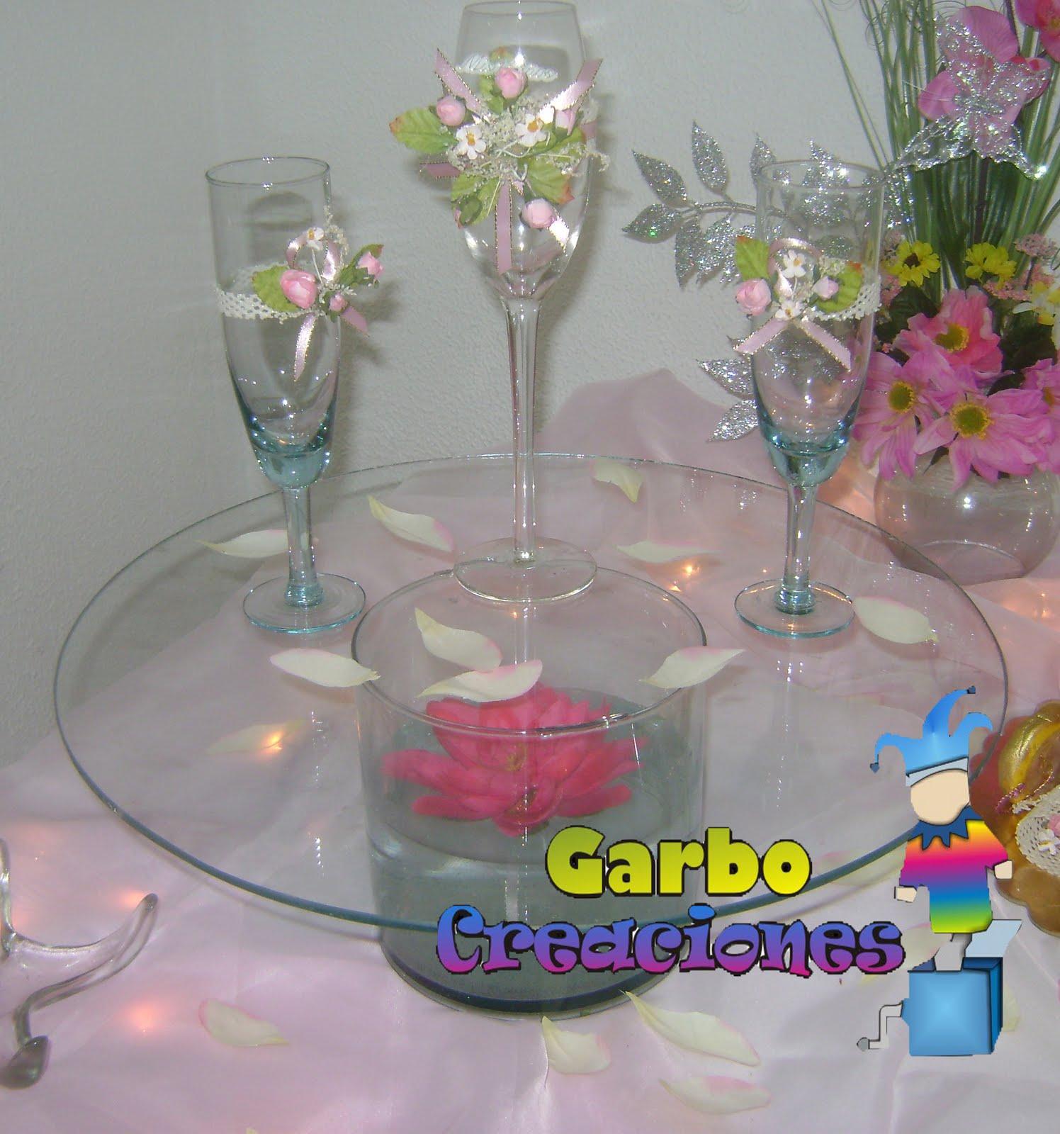 Garbo creaciones copas decoradas
