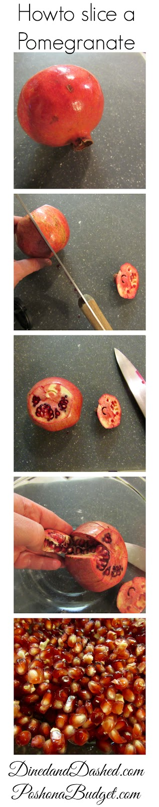 How to slice a Pomegranate