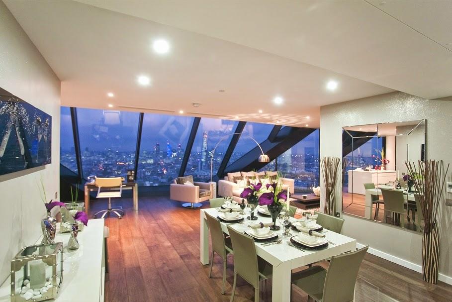 Apartemen Mewah Di London Dengan Atap Kaki Langit Yang Menawan