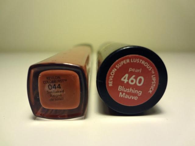 Revlon ColorBurst, lip gloss, Sunbaked, Revlon Super Lustrous Lipstick, Blushing Mauve