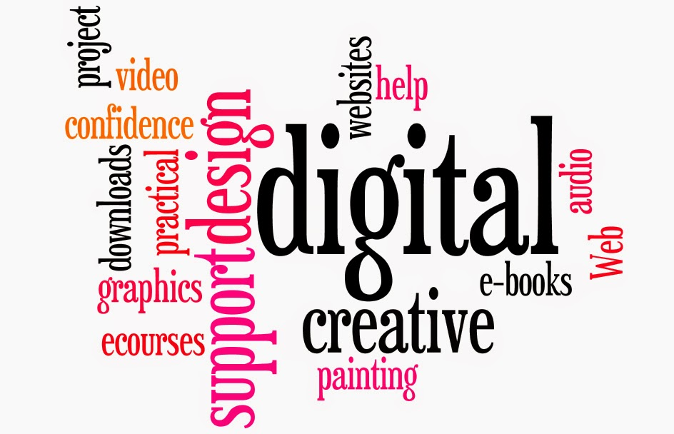 word art of different digital creative services